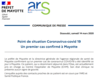 Point de situation Coronavirus-covid 19
